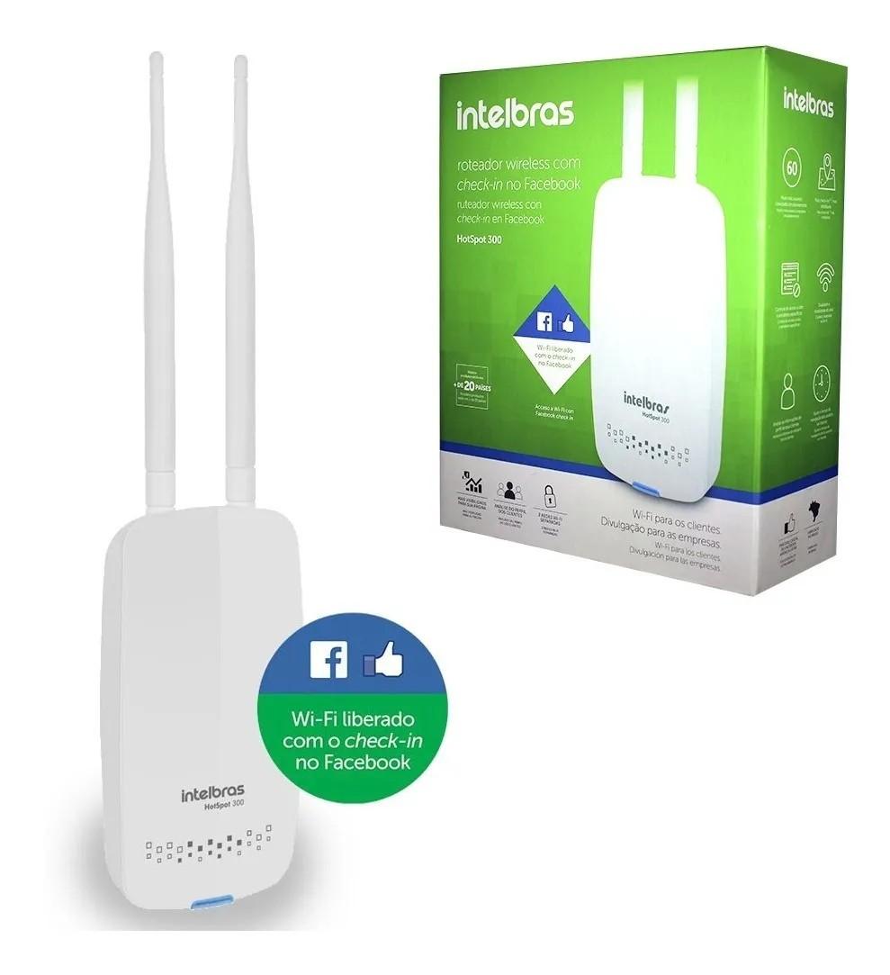 Roteador Wireless Intelbras Hotspot 300 Check-in Facebook Original Lacrado C/ Garantia