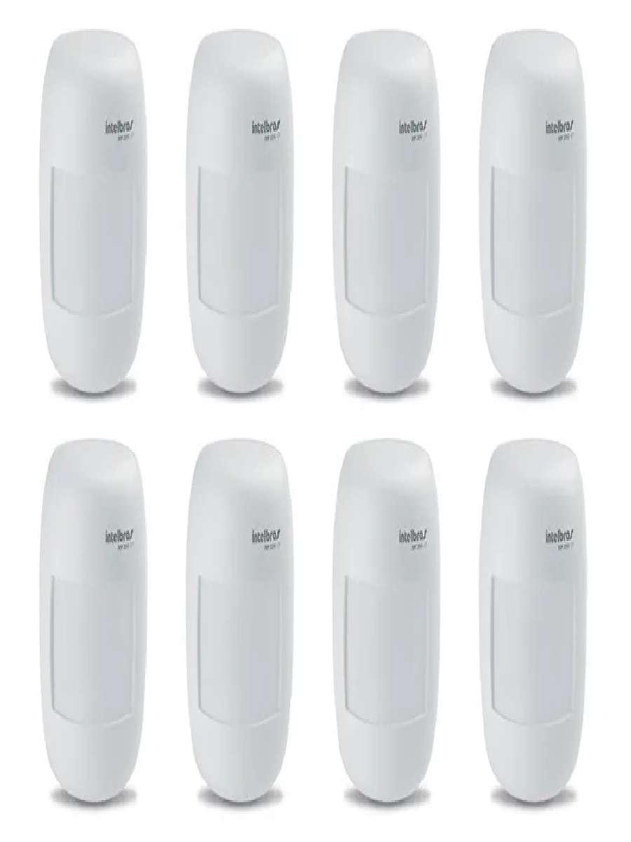 Sensor Infra Alarme Com Fio Ivp 3000cf Intelbras Kit 8 unid