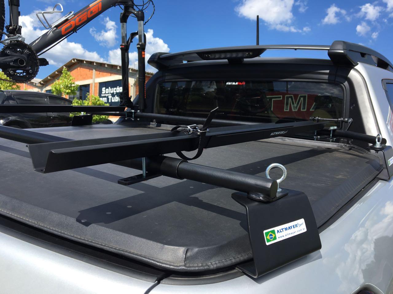 Suporte Veicular Transbike Mini Rack Para Pick-up Camionete Eixo 9mm 3/8