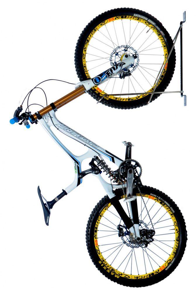 Suporte Bike Rack Giratorio Parede Vertical Móvel Cromado TOP AL-196