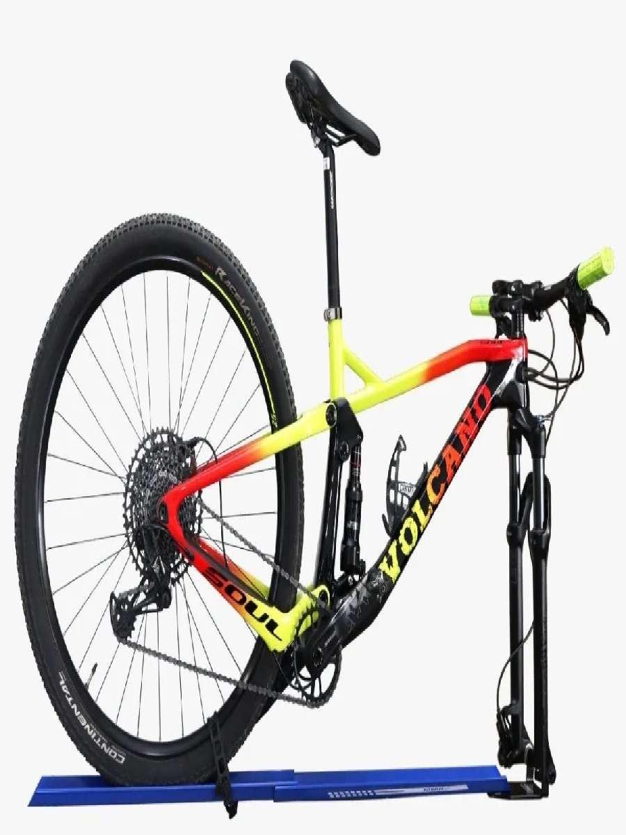 Suporte Bike Transbike Evo Com Canaleta Eixo 15 X 110 MM Laranja
