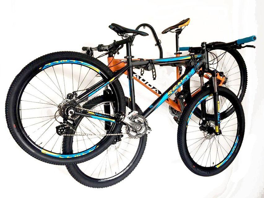 Suporte de Parede Articulado Para 2 Bicicletas Preto AL-136 Altmayer