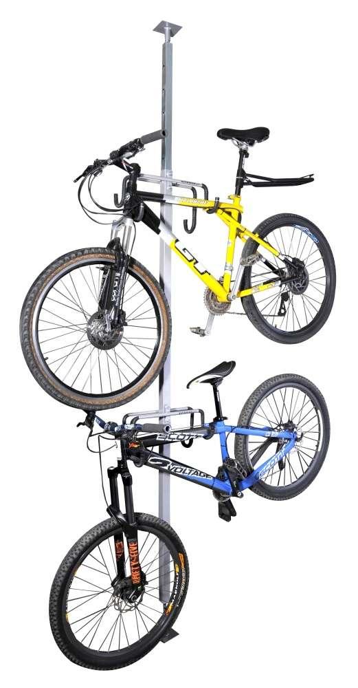 Suporte Para 02 Bicicletas Tipo Pilar Ajustável Al-52 Altmayer