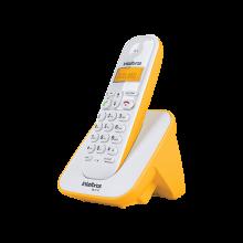 Telefone Sem Fio Intelbras TS 3110 Branco e Amarelo