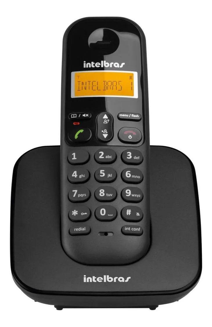 Telefone sem fio Intelbras TS 3112 preto