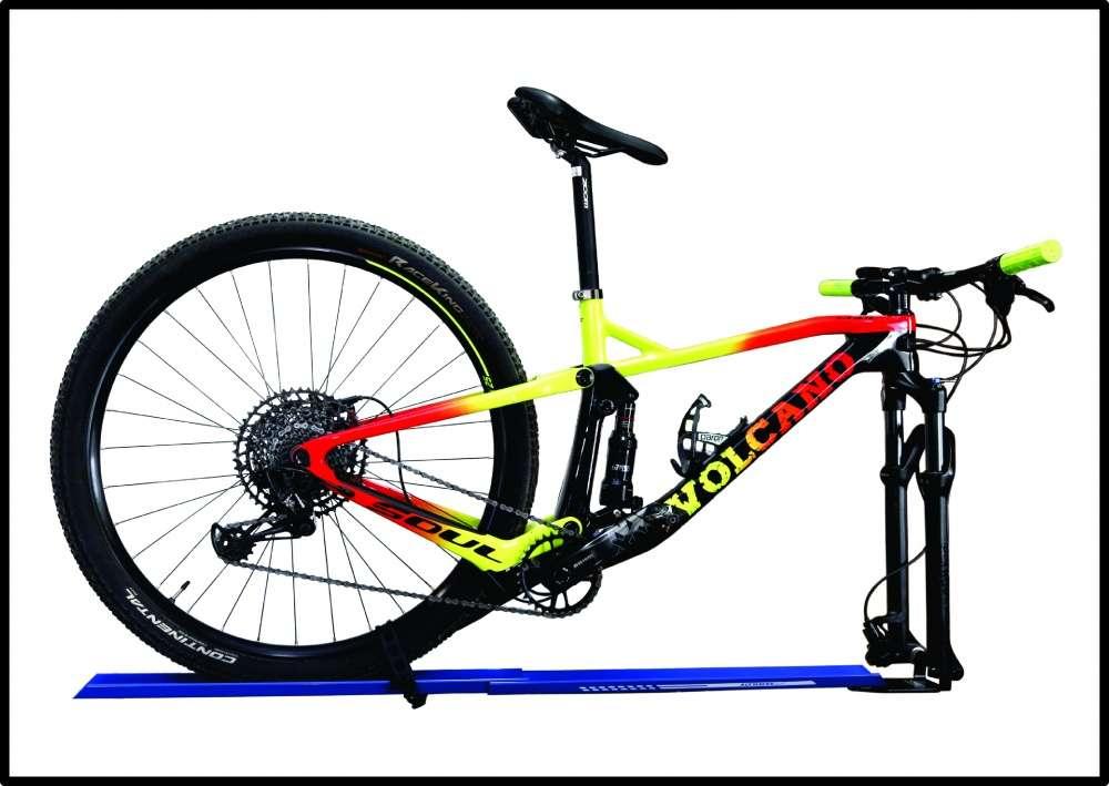 Transbike Suporte Bike Carro Canaleta MTB Blocagem Eixo 15mm 3/8