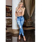 Calça PitBull Jeans Feminina  com Bojo Regulavél Pit Bull 25949
