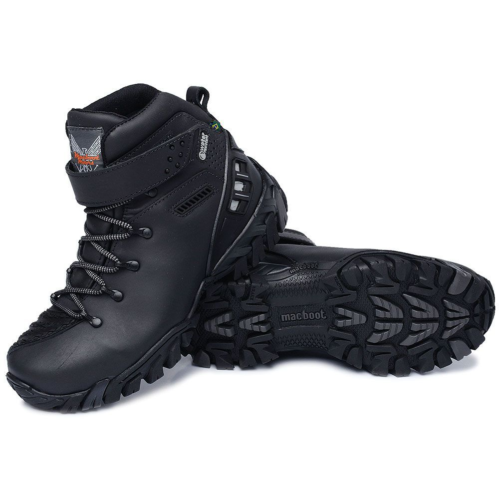 Bota Motociclista Macboot Alcatraz II Couro Natural