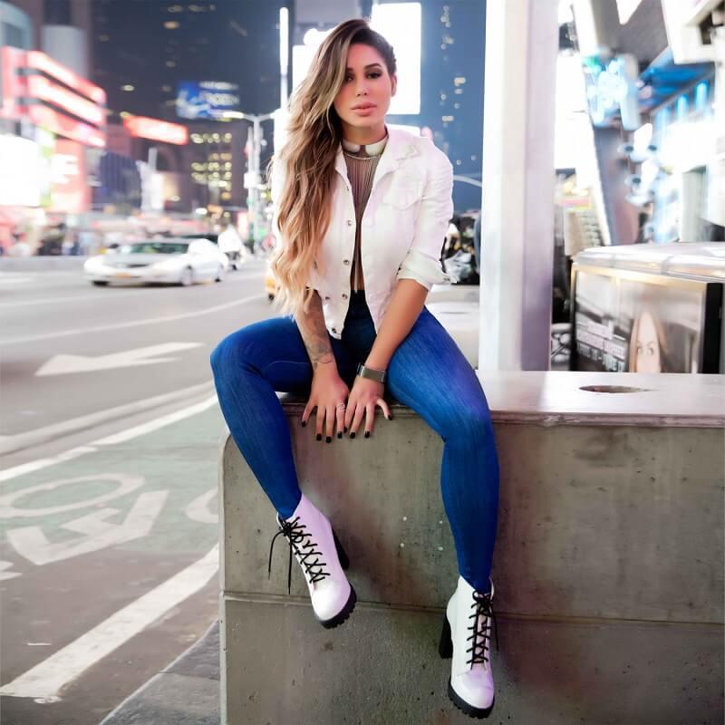 Calça Jeans Feminina PitBull Cigarrete Pit Bull 26723