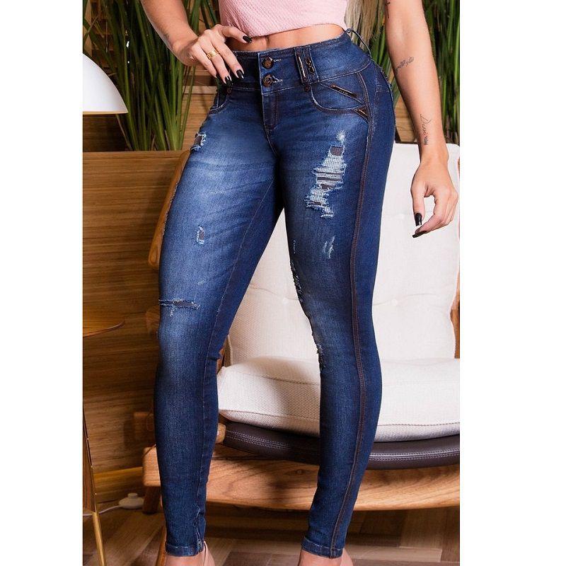 Calça PitBull Jeans Feminina com Bojo Regulavél Pit Bull 24809