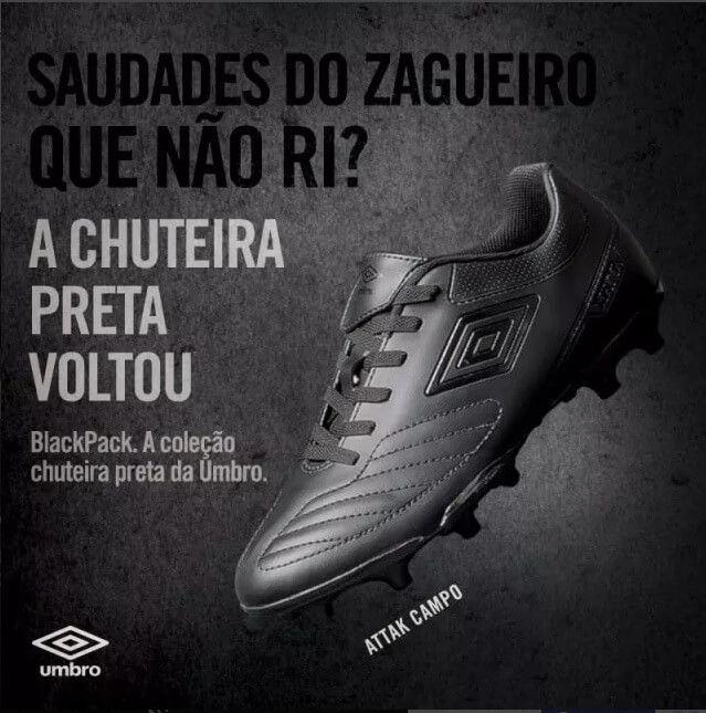 Chuteira Campo Umbro Attack II Black Edition