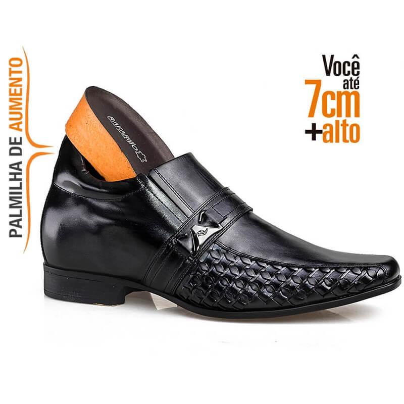 Sapato Masculino Rafarillo Vegas Alth 3254 Você 7 Cm Mais Alto