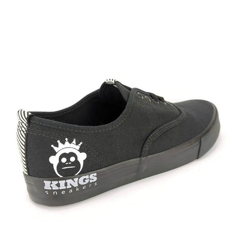 Tenis Slip On Unisex Kings Kg0004 Skate Lona Ultra Resistente