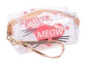 Necessaire Transparente Alça De Mão - Meow