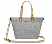 SHOPPING BAG PALHA AZUL WJ
