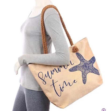 Bolsa Sacola Feminina Estampada Com Alça Dupla Summer