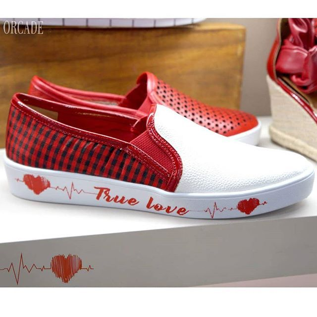 TENIS ORCADE BRANCO E XADREZ TRUE LOVE 036658