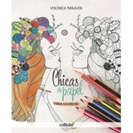 Chicas de papel para colorear