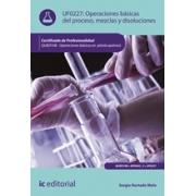 Operaciones básicas del proceso, mezclas y disoluciones. QUIE0108 - Operaciones básicas en planta química