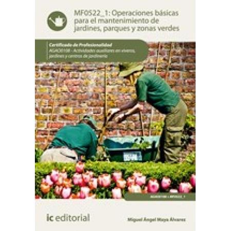Operaciones básicas para el mantenimiento de jardines, parques y zonas verdes. AGAO0108 - Actividades auxiliares en viveros, jardines y centros de jardinería