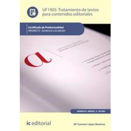 Tratamiento de textos para contenidos editoriales. ARGN0210 - Asistencia a la edición