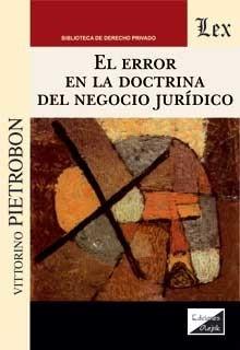 Error en la doctrina del negocio jurídico