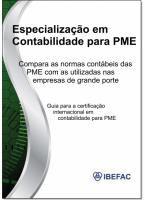 Especialização Em Contabilidade Para PME: Comparativo Entre a Norma Completa e a Pmes