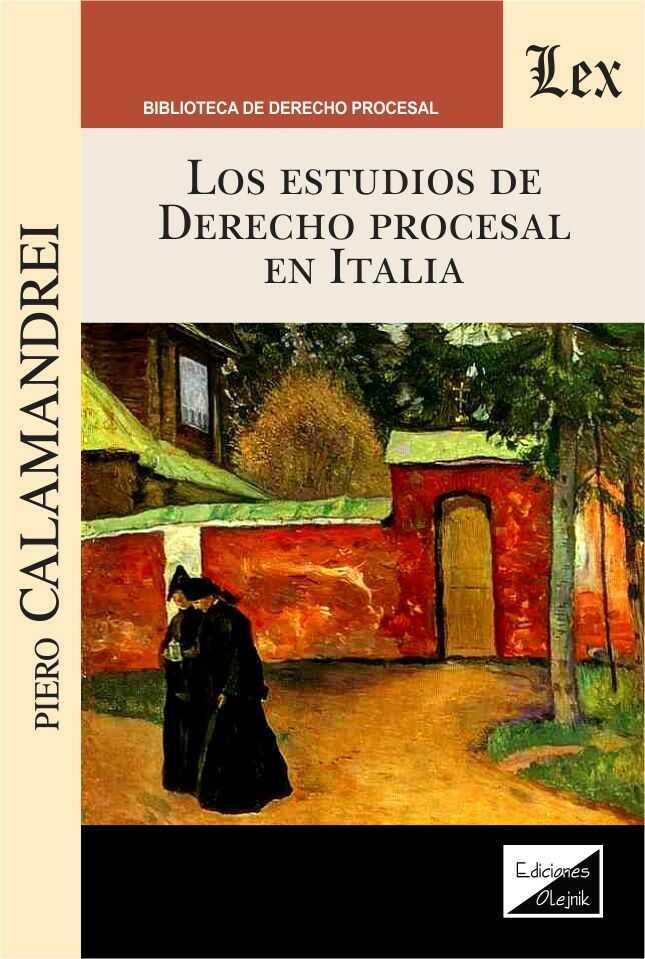 Estudios de derecho procesal en Italia, los