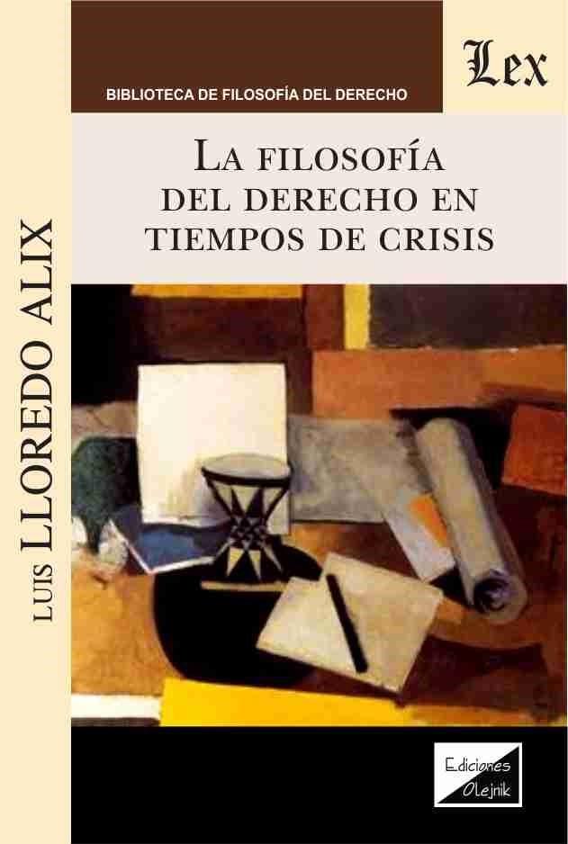 Filosofia del derecho en tiempos de crisis