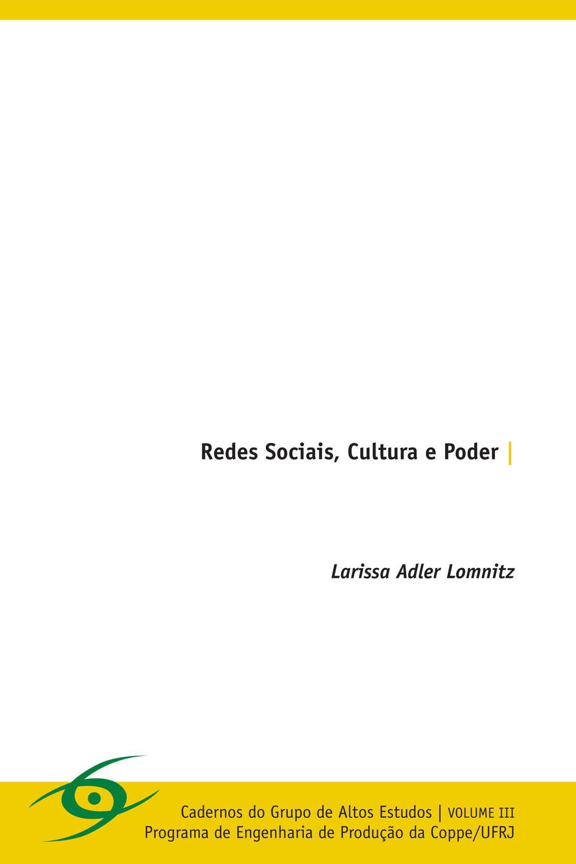 Redes Sociais, Cultura e Poder (LIVRO)