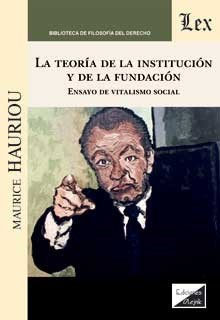 Teoría de la institución y de la fundación