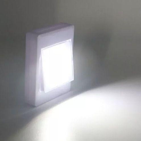 Mini Luminária Led Para Armário Corredor Abajur Imã Pilha