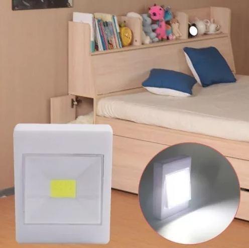 111ab5ddfeb Mini Luminária Led Para Armário Corredor Abajur Imã Pilha - Maxi ...