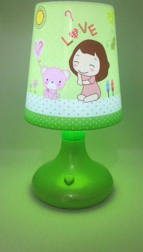 Abajur/luminária Infantil De Mesa Fashion (verde)