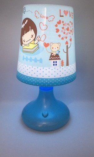 Abajur/luminária Infantil De Mesa Fashion - Azul