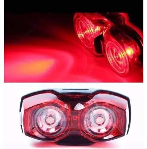 Luz Traseira Para Bicicleta - Dois Olhos Em Led
