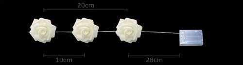 Conjunto Com 20 Rosas Em Led