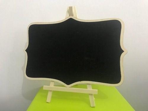 Lousa Cavalete Quadro Negro Decoração Ensaios 30x20cm