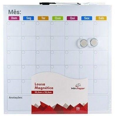 Lousa Magnética Calendário Mensal - Win Paper