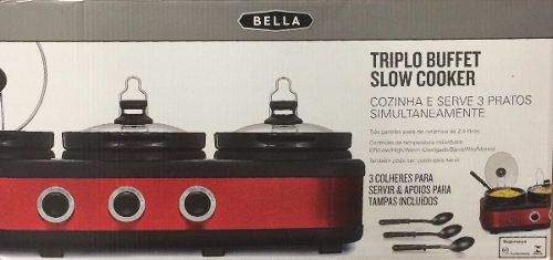 Triplo Buffet Slow Cooker Rechaud - Bella