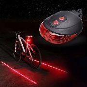 Luz Traseira Para Bicicleta Com 3 Leds Laser Ciclovia