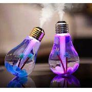 Umidificador De Ar Em Forma De Lâmpada Com Luz De Led Usb