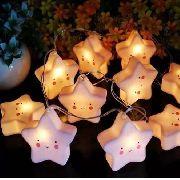 Luminária Cordão Fio De Luz 10 Estrelas De Led Decoração