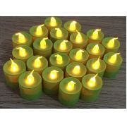 Kit Com 24 Velas De Led Decorativas - Verde