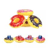 Mini Bóia Inflável Porta Copo Lata Donuts - Lilás
