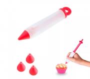 Bisnaga Caneta Em Silicone Para Decoração De Bolos E Cupcake