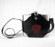 Cantil Porta Bebida Em Aço Inox Com Alça - 1 Litro