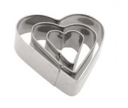Cortador Inox Coração Com 3 Peças Cozinha Yazi