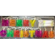 Enfeite Luminoso Cordão de Natal em Led Merry Christmas