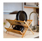 Escorredor Louças 20 Pratos E Copos - Bambu Natural